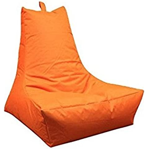 Outdoor rfähige Pouf–arancione–Seduta Lounge–poltrona–cuscino per sedia–XXL–Lounge Chair–Poltrona lounge, 100x 90x 80cm, outdoorgeeignet