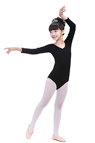 DoGeek Turnanzug für Mädchen Ballettkleid Mädchen Ballett Trikot Kinder Gymnastikanzug Kurzärmliges & Langarm Ballettanzug - Mädchen Trikot 5t