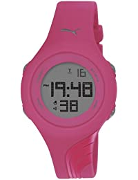 Puma Twist S Unisex Digital Watch with LCD Dial Digital Display and Pink PU Strap PU911092010