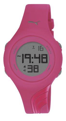 Puma Twist S Unisex Digital Watch with LCD Dial Digital Display and Pink PU Strap PU911092010