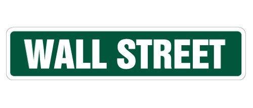 9b7f93bc Decorativo segni con versi Wall Street Street Sign Nyse stock Broker  commerciante Gift novità Road metal
