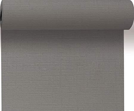 Duni Tête á Tête granit grey, Tischläufer aus Dunicel granit grey 0,4 m x 24 m, Tischläufer grau, Tischdeko, Tischdeko Hochzeit, Tischläufer Tischdekoration