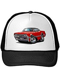 Funny 1966 Olds Cutlass Red-Black Top Car Trucker