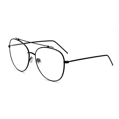 sunbo-unisex-fashion-personality-aviator-decoration-retro-clear-lens-optical-glasses-frames-black
