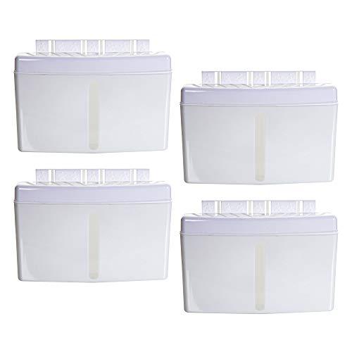 4 x Luftbefeuchter Heizung je 500 ml Verdunster für Heizkörper aus Kunststoff Vintage Style neutral unauffällig weiß altweiß