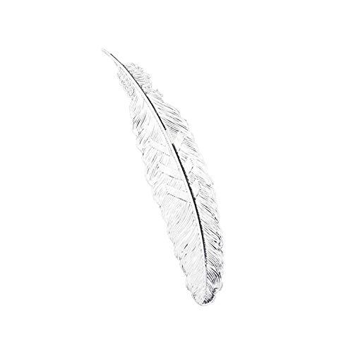 Segnalibro fai da te carino nero farfalla piuma metallo per libro carta creativa bella cancelleria coreana regalo, Metallo, Silver, Misura unica