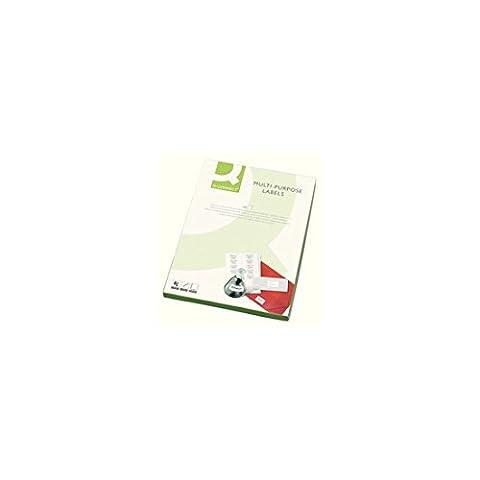 Q Connect Multi-Purpose Label 199.6x289mm 1 per A4 Sheet Pack