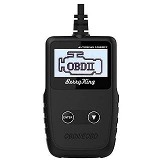 BerryKing Autoscan Connect Handscanner CAN BUS Diagnose OBD2 EOBD Scanner Fehler Auslesen und Löschen für Fahrzeuge ab 1996 (Europa, US, Asian) mit OBD2
