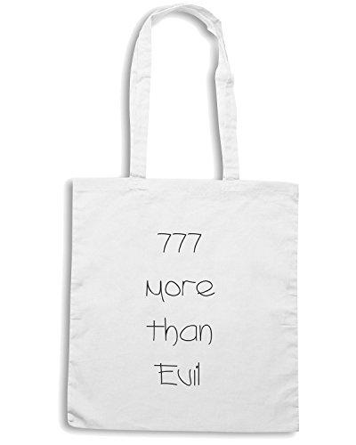 T-Shirtshock - Borsa Shopping TDM00009 777 more than evil Bianco
