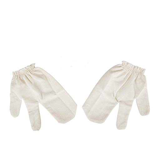 Garshan Seidenhandschuhe als leichte, luxuriöse Alternative zur Trockenbürste - für Ayurveda Massage - Ideales Geschenk der reinen Haut & Bekämpfung von Cellulite -
