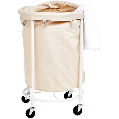 AmazonBasics – Carro de lavandería profesional con bolsa extraíble y ruedas
