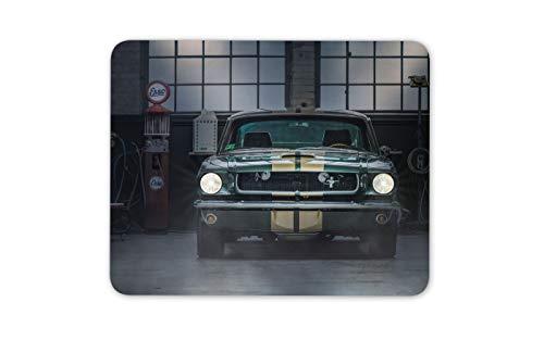 Vintage Mustang Auto Shop Mousepad Pad - Tankstelle USA Computer-Geschenk # 14662 (Kundenspezifische Auto-zubehör)