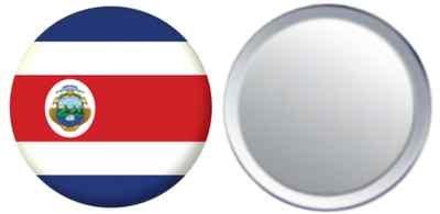 Miroir insigne de bouton Costa Rica drapeau - 58mm