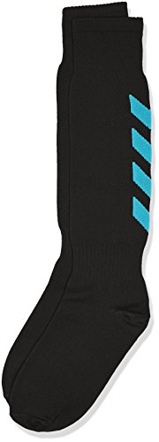 Hummel, Calzini Bambino Essential Football, Nero (Black/Scuba Blue), 32-35