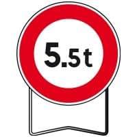 Taliaplast - Panneaux temporaire de prescription B13 Interdit si poids supérieur à 5,5 T - Classe: T1