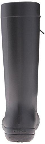 Crocs Freesail Rain Boot, Bottes de Pluie Femme Noir (Black)