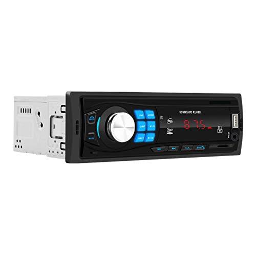 Lukame✯ Nuevo 12 V Fm Mp3 USB Aux Lcd Bluetooth Radio De Coche En Tablero De Instrumentos Reproductor De Disco U Tarjeta Bluetooth Reproductor De Mp3 Para Coche