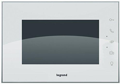 Legrand 369230 Video-Türsprechanlage mit 2-Draht-Anschluss, 7 Zoll Hochglanz-Farbmonitor und Weitwinkelkamera, 1-/2-Familienhaus-Set