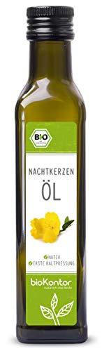 Bio Nachtkerzenöl - nativ, kaltgepresst, 100% rein von bioKontor - 250ml - Nachtkerzen Samen Öl