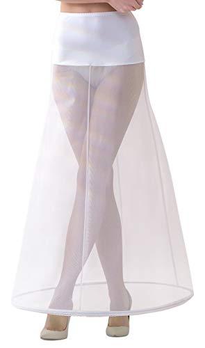 Lacey Bell Mujer Enaguas Larga con Cintura Elástica para Vestidos de Novia - Cancán Circunferencia 220cm - Blanco - XS - P2-220