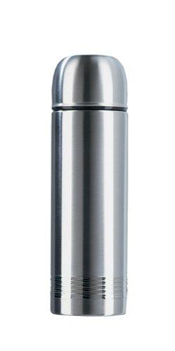 Emsa 618101600 Isolierflasche, Mobil genießen, 1000 ml, Safe Loc Verschluss, Edelstahl, Senator