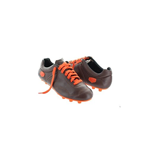 Chaussures de foot crampons moulés - Marron semelle Orange Marron 40 - Taille - 40 Marron