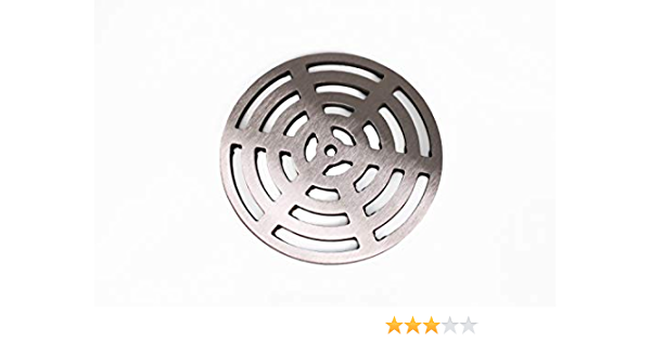 10mm Thickness 225mm Round Stainless Steel Solid Metal Steel Gully Grid Heavy Duty Drain Cover Grate Like cast Iron Stronger