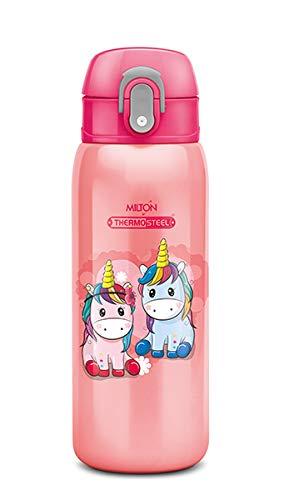 Milton Jolly 475 Thermosteel Kids Water Bottle, 390 ml, Pink