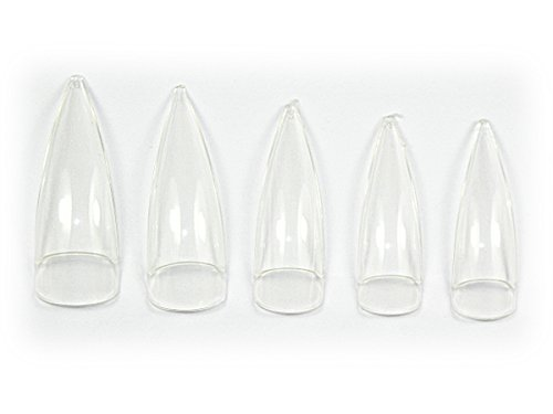 500 Design Tips STILETTO in Clear mit KLEBEFLÄCHE NT-79 -