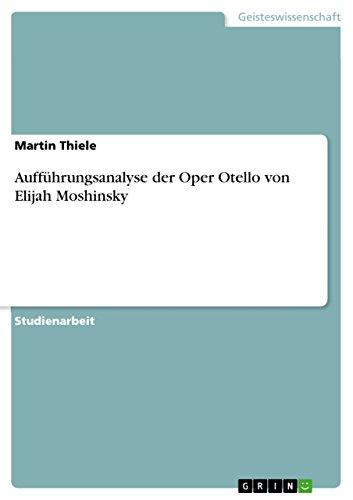 Aufführungsanalyse der Oper Otello von Elijah Moshinsky (Darsteller Kostüm)