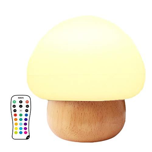caracteristicas: 1.Cute LED lámpara de seta de colores crear un ambiente tranquilo. 2. Hecho de silicona y goma de madera libres de BPA, de alta calidad y no tóxico. La luz suave y cálida ofrece un tierno guardián y protege tus ojos bien. 4. Los colo...