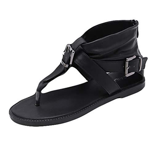 LSAltd Art- und Weisefrauen Retro Klassische T-Art Knöchel-Wölbung Bequeme Flache Sandelholze beiläufige Normallack-kühle Zapfen-Schuhe