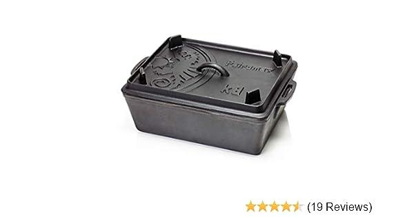 Petromax Kastenform mit Deckel 5,5L Inhalt K8 incl Deckelheber und Tasche