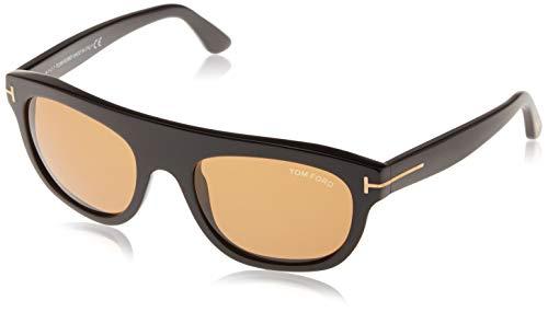 Tom ford sonnenbrille ft0594 01e 55 occhiali da sole, nero (schwarz), 55.0 uomo