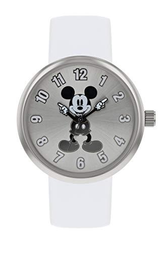 Mickey Mouse Reloj Analógico para Mujer de Cuarzo con Correa en Cuero