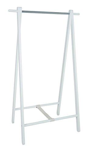 HAKU Möbel 44362 Standgarderobe, 50 x 88 x 152 cm, weiß  chrom