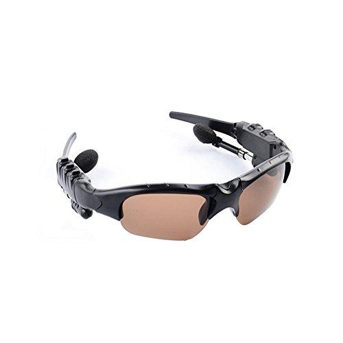 ROKOO Smart Gläser Bluetooth Kopfhörer Sonnenbrille Wireless Stereo für Sport Outdoor, Braun