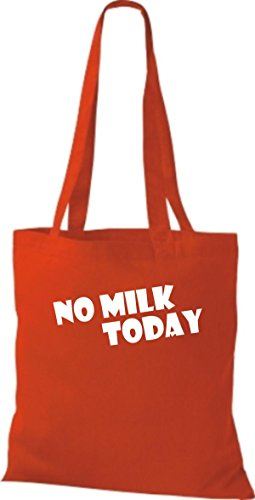 Shirtstown Stoffbeutel lustige Sprüche No Milk Today viele Farben rot