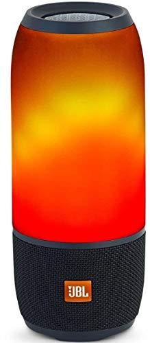 Finoo JBL Pulse 3 schwarz Tragbarer Bluetooth-Lautsprecher (wasserdicht, Lichtshow für den 360) schwarz