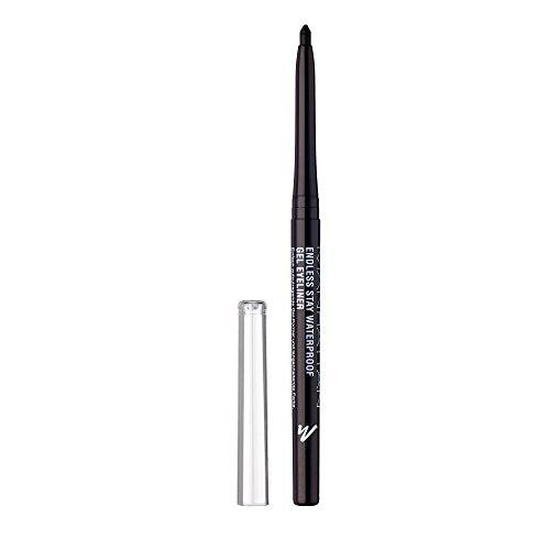 Manhattan Endless Stay Waterproof Gel Eyeliner, 006 Blackest Black, langanhaltend, wisch- und...