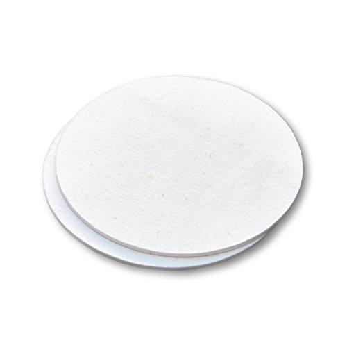 Scheibe aus Filz (Wollfilzgemisch), Großer Untersetzer, für Töpfe und Blumentöpfe, als Dekomaterial, weiß, 20 cm Durchmesser, 4 mm dick - 2 Stück