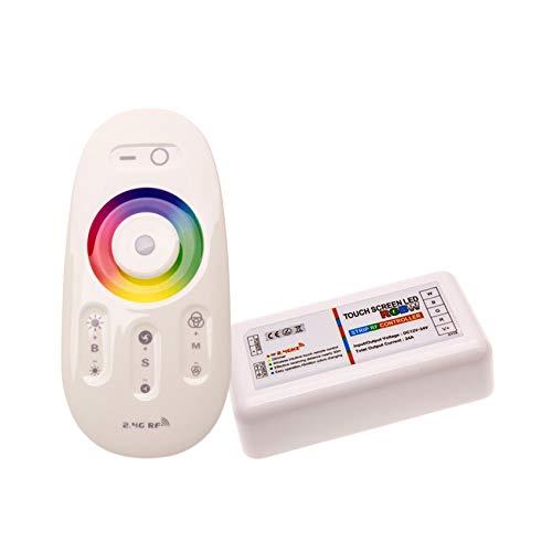 Contrôleur Tactile LED RGBW Dimmable avec Télécommande RF LEDKIA