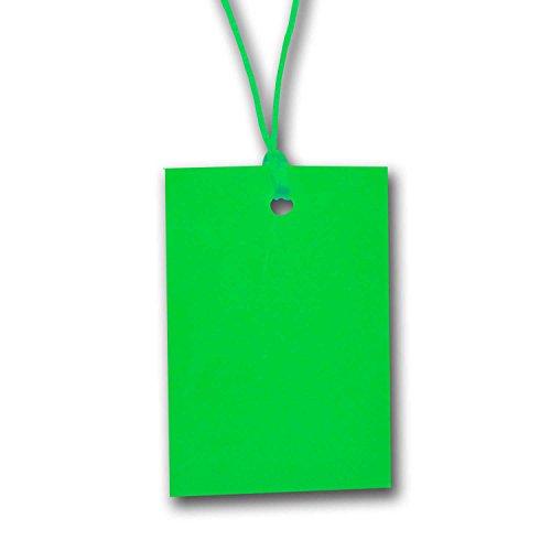 Grün Zeichenfolge Preisschild Etikett Karte Hang Tag 60mm x 40mm (100er Pack)