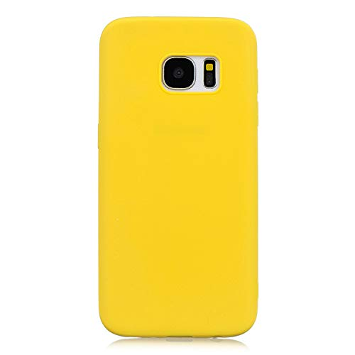 Forhouse Hülle Samsung Galaxy S7 Edge Anti-Scratch, Slim Back Cover Personality Design Clear TPU Hülle Back Cover for Samsung Galaxy S7 Edge - Yellow