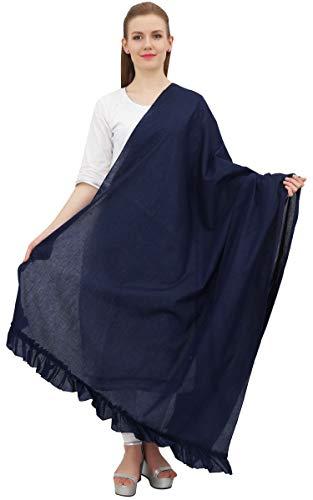Phagun cuello indio Wrap algodón Dupatta Mujeres