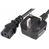 DabbersIT UK 2m Kettle Lead C13 PC Computer Power Cable
