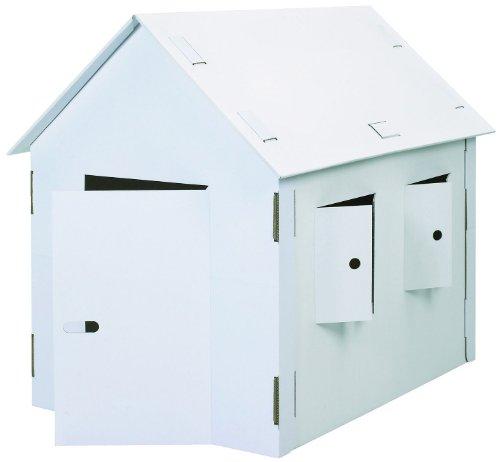 (Kreul 39105 - Joypac Bastelkarton Spielhaus XXL, ca. 120 x 80 x 110 cm, weiß zum selber Gestalten)