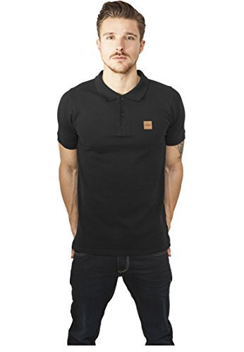 URBAN CLASSICS - Heavy Polo Pique Shirt (black), Gr. M (Polo-shirt Sleeve Pique)