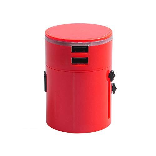 Steckdosenadapter Reiseadapter,3.1A USB-Ausgang, Der Mehrere GeräTe Und Einen Abnehmbaren Konvertierungsstecker Aufladen Kann,red