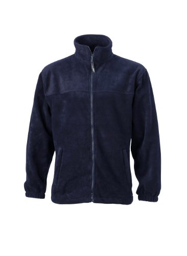 James & Nicholson Herren Jacke Full - Zip - Fleece, Gr. Medium, Blau (blau navy) (Zip Full Fleece Navy)